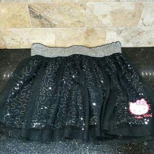 HELLO KITTY Silver Sparkle Skirt